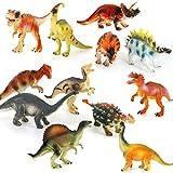 TOYMYTOY 12pcs Dinosaure Jouet Ensemble en plastique Dinosaure Chiffres Educatif Jouets pour enfants