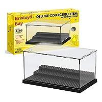Brixtoys Bay ® acrylic display case box perspex dustproof minifigures showcase #black