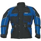 Roleff Chaqueta de Motorista para Niños Racewear, Negro/Azul, XXL/164