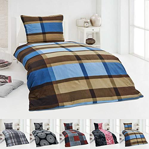 Dreamhome  Warme Winter Microfaser Thermo Fleece Bettwäsche 135x200 155x220 200x200 Moderne, Design - Motiv:Design 4, Größe:135 x 200 cm
