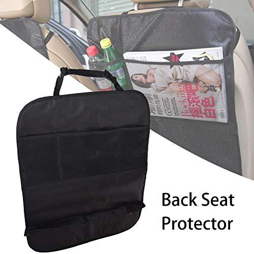Ritapreaty Auto-Rücksitz-Organizer, wasserdichte Rückenlehnen-Protektoren, Trittmatten-Rücksitzbezug für Kinder (Hund-tisch Kindersitz)