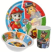 Paw Patrol La Patrulla Canina - Set desayuno melamina sin orla 3 piezas (Stor 82790)