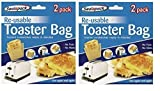 Reusable Toaster Toastie Sandwich Toast Bags Pockets Toasty Toastabags by Sealapack