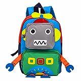 TeMan Sac à Dos de Cartable de Maternelle pour des Enfants (Vert Robot)...