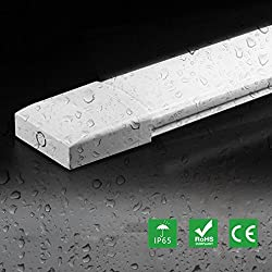 Ultraslim 0,6m LED Feuchtraumleuchte mit 18W 1500LM Neutralweiß Wasserdicht IP65 für Garage Lager Fabrik Badzimmer