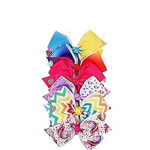 ZIXUAN Bow 6 Days Rainbow Pattern – Schöne Haarschmuck Socken Mädchen gefüllt