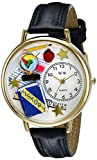 Whimsical Watches Unisex G0640006 History Teacher Navy Blue Leather Watch best price on Amazon @ Rs. 1200