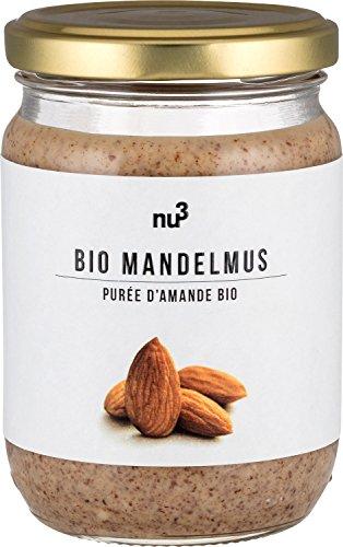 nu3 - Bio Mandelmus aus 100% knackigen Mandeln - 250 ml - beste Rohkost Qualität aus Spanien - perfekt zum Backen in Smoothies order als zart-cremiger Brotaufstrich (Vegan)