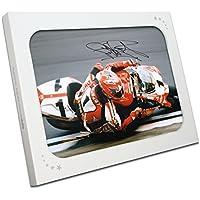Exclusive Memorabilia Superbikes Foto Signiert von Carl Fogarty: Nahe am Rand. in Geschenkbox