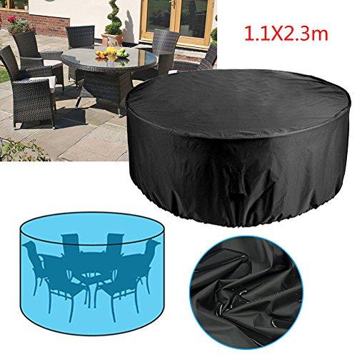 Rayinblue Housse de chaises et table de jardin pour meubles d'extérieur Shelter étanche 4 6 places 6 Seater Round 1.1x2.3m