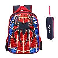 School Backpack for Boys Kids Schoolbag Student Bookbag Rucksack Waterproof Shoulder Bag Daypack with Anime Super Hero
