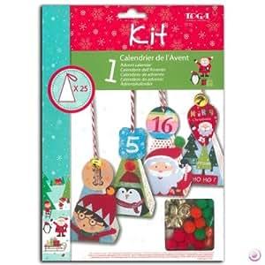 Kit de calendrier de l'Avent pyramides Noël des Lutins