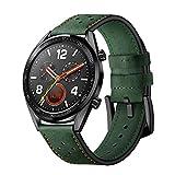 DIPOLA Correa para la Muñeca del Reloj de Cuero de Reemplazo de Moda para Huawei Watch GT
