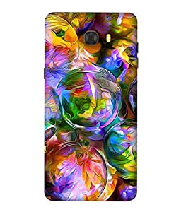 Printvisa Watercolor Bubbles Illustration Print Designer Back Cover for Samsung Galaxy C7 Pro