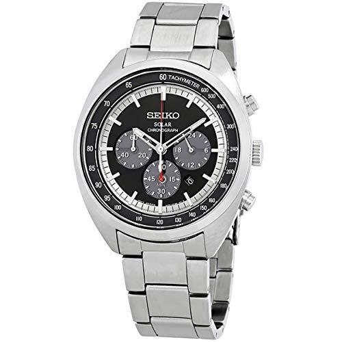 Seiko Herren Chronograph Solar Uhr mit Edelstahl Armband SSC621P1