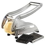 VonShef Hochwertiger Edelstahl Kartoffelschneider mit 2 austauschbaren Klingen zur Zubereitung