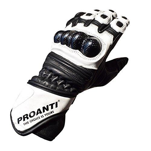 Motorradhandschuhe Race Leder Motorrad Herren Damen Handschuhe von PROANTI®