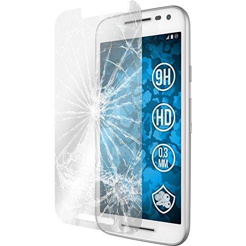 PhoneNatic 2 x Glas-Folie klar kompatibel mit Motorola Moto G 2015 3. Generation - Panzerglas für Moto G 2015 3. Generation