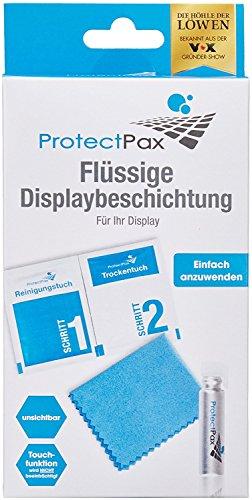 ProtectPax Flüssige Displaybeschichtung aus die Höhle der Löwen - Single Pack 4tlg - für alle Smartphones, IPhone Samsung Nano Versiegelung – Unsichtbare Handy Folie