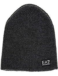 Emporio Armani EA7 gorro de hombre sombrero nuevo train lux gris