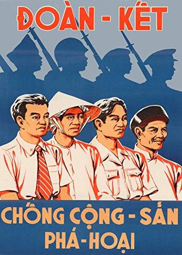 Anti-Kommunistischen Propaganda UNITE Süd Vietnam Vintage gegen ANTI-COMMUNIST sabotieren c1952 250gsm ART glänzend A3 Reproduktion
