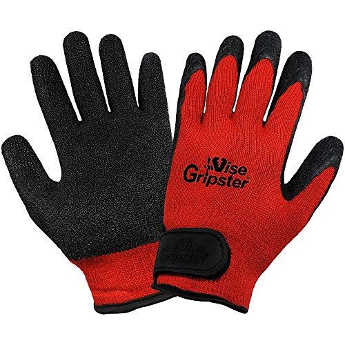 Global Handschuh 300rv Vise Gripster Gummi Handschuh, Arbeit, mittel, rot/schwarz (Fall von 72) -