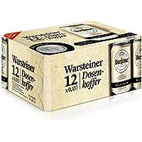 Warsteiner Premium Pilsener Dosenkoffer, Dosenbier, internationales Bier nach deutschem Reinheitsgebot, EINWEG (12 x 0,33 Liter)