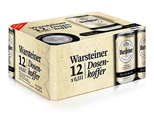 Warsteiner Premium Pilsener Dosenkoffer/12 x 0.33 Liter Dosenbier/Internationales Bier nach deutschem Reinheitsgebot/Dosenkoffer auch im Spar-Abo erhältlich (Bier Internationale)