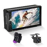 MiCarBa Doppel Din Auto Stereo Bluetooth Radio Video Player, 7 Zoll HD 1024 * 600 Touchscreen Auto...