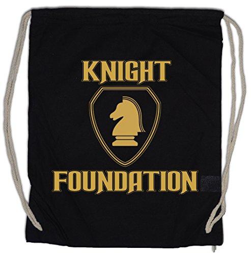 Urban Backwoods Black Knight Foundation Logo Turnbeutel TV Rider Serie Kult Hasselhoff K.I.T.T. (Foundation Duffel)