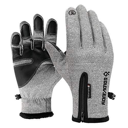 LXD Handschuhe Touchscreen Winterhandschuhe Winter Reißverschluss Damen Reiten Winddicht Warme Sport Fleece Skischuhe Xxl