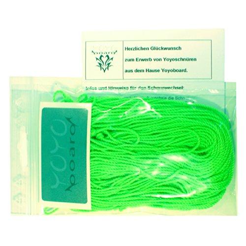 25 Yoyo Schnur Strings, Ersatzschnüre, Yoyoschnur, Ersatz Jojo-Schnüre /von Yoyoboard in Neon-Grün