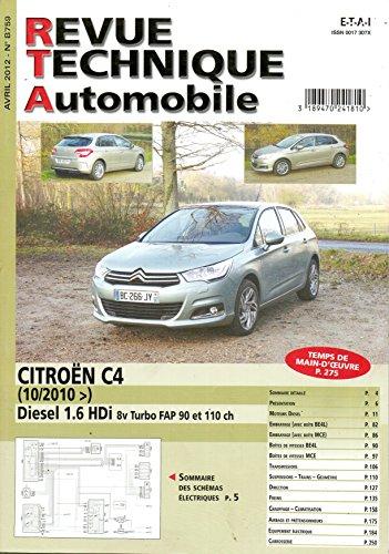 Download Revue Technique Automobile N 759 Citroen C4 Diesel