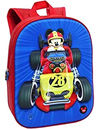 Toybags Mochila Mickey and The Roadster Racers 3D con Luz y Sonido 24 X 32 X