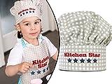 Kochmütze oder Küchenschürze & Topfhandschuh für Kinder - passend für Kinder im Alter von 3-6 Jahren