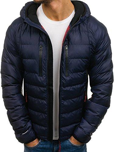 BOLF Herren Übergangsjacke Jacke mit Kapuze Sport Style JOHN RICCI J922 Dunkelblau XXL [4D4]
