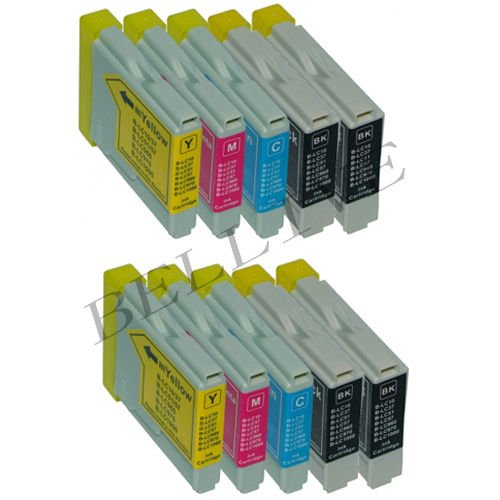 10 CARTUCCE COMPATIBILI PER BROTHER LC 970 LC 1000 DCP-130C / DCP-135C / DCP-150C / DCP-153C / DCP-1