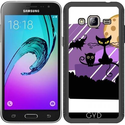tArtists SilikonHülle für Samsung Galaxy J3 2015 (SM-J310) - Halloween Horror Fest - by WonderfulDreamPicture ()
