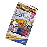 Lot de 36crayons d'aquarelle Conda de crayons de couleur aquarellables Lapis non toxique à l'huile crayon Stylo kit