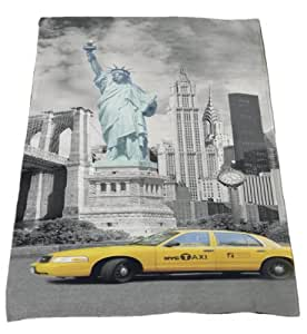 Global Labels Veours Le Drap De Plage La Serviette De Bain New York 75 X 150 Cm
