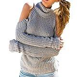 FIRSS Frauen Rollkragen Rundhals Tops | Strick Oberteile | Schulterfrei Pullover | Normallack Hemd | Slim Fit Shirt | Modisch Elegante Sweatshirt | Blusen Damen Langarmshirt