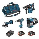 BOSCH Kit PSL4M2CB (GBH 18V-26F + GSB 18 V-LI + GWS 18-125 V-LI + GAS 18V-10L + 2 x 4,0Ah + GAL1880CV + HDBAG)