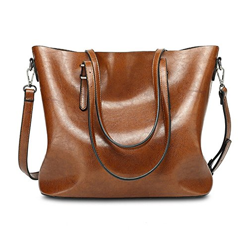 yaagle-vintage-waterproof-oil-wax-pu-leather-large-capacity-shoulder-bag-totes-for-ladies-girls