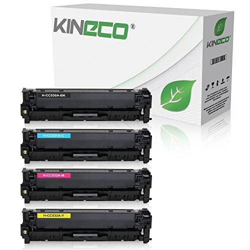4 Kineco Toner kompatibel zu HP Color LaserJet CP 2000 2020 Series 2025 X 2024 2026 2027 DN N CM 2300 2720 2320 FXI CB CBB CI EB EBB EI N NF WB WBB WI MFP 2323 304A Schwarz 3.500 Color je 2.800 Seiten