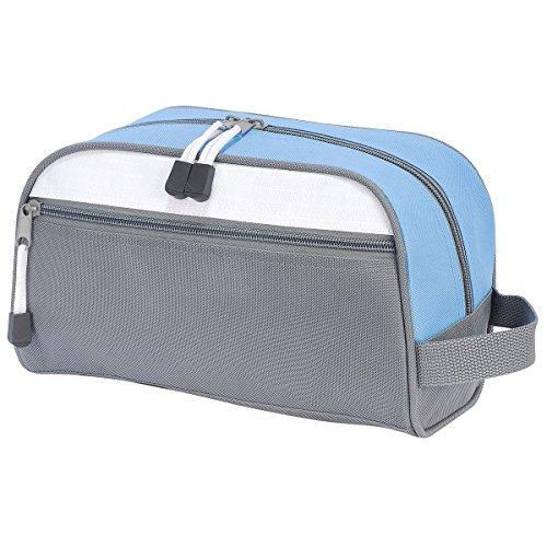 Shugon 4450–46Bilbao Toiletry Bag, Dark Grau/Hellblau/Weiß