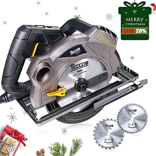 Sega Circolare,TECCPO 1500W Sega Circolare con Guida Laser, 5800 RPM, Profondità di...