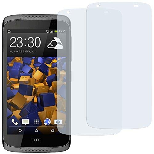 mumbi Schutzfolie kompatibel mit HTC Desire 526G Folie klar, Bildschirmschutzfolie (2x)