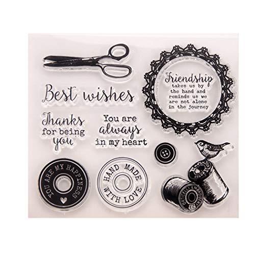BINGMAX DIY Silikonstempel Geburtstag Scrapbooking Craft Karte Gummi Stempel Weihnachten Valentinstag Jahre Geschenke T1313 -