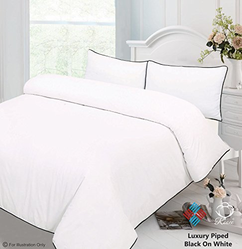 Black Double Qaisiria Palin Dyed Fitted Valance Bed Sheet 100