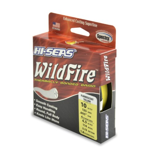 Hi-Saw Wildfire Thermisch gebundene Spectra-Linie, Fluoreszierendes Gelb, 125 Yard, 10 Pound Test